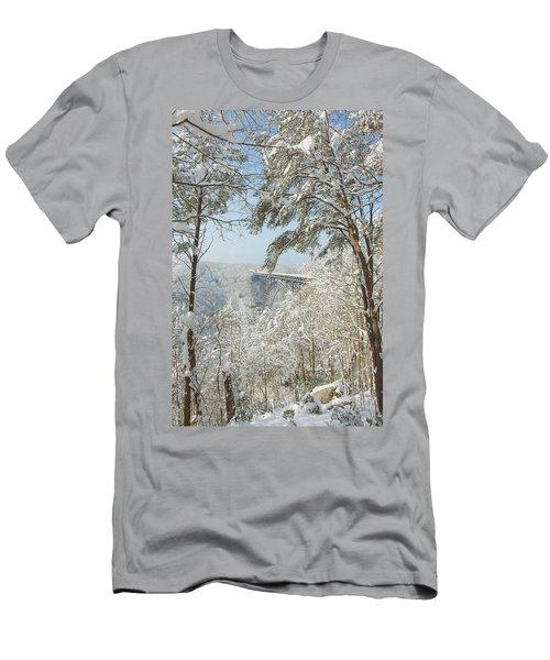 New River Gorge Bridge Men's T-Shirt (Athletic Fit)