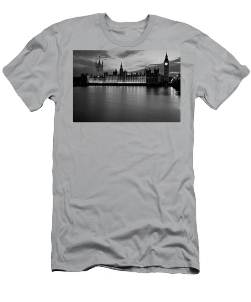 Big Ben And The Houses Of Parliament Men's T-Shirt (Slim Fit) by David French
