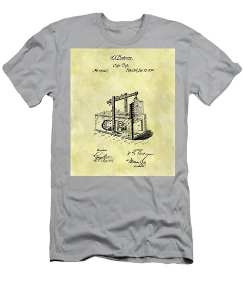 Men's T-Shirt (Slim Fit) featuring the mixed media 1870 Mousetrap Patent by Dan Sproul