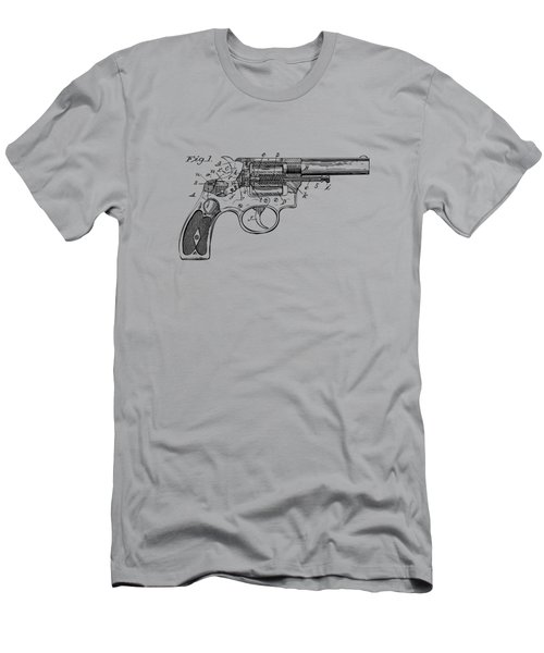 1896 Wesson Safety Device Revolver Patent Minimal - Vintage Men's T-Shirt (Athletic Fit)