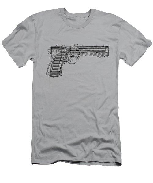 1903 Mcclean Pistol Patent Minimal - Vintage Men's T-Shirt (Athletic Fit)