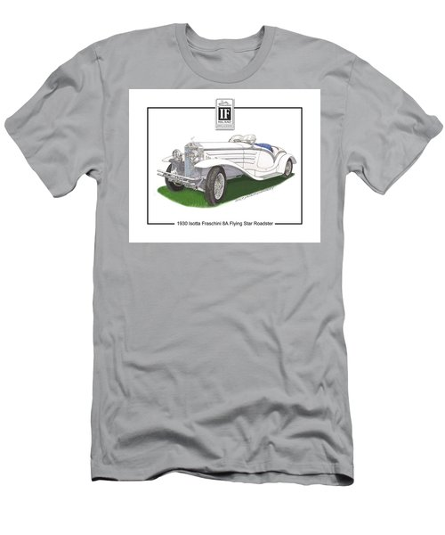 1930 Isotta Fraschini 8a Flying Star Roadster Men's T-Shirt (Slim Fit) by Jack Pumphrey