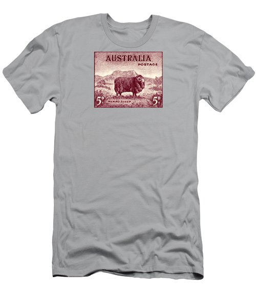 1946 Australian Merino Sheep Stamp Men's T-Shirt (Athletic Fit)