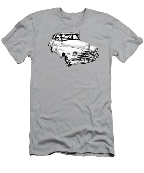 1948 Chevrolet Fleetmaster Antique Car Illustration Men's T-Shirt (Athletic Fit)