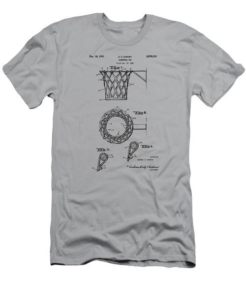 1951 Basketball Net Patent Artwork - Vintage Men's T-Shirt (Slim Fit) by Nikki Marie Smith