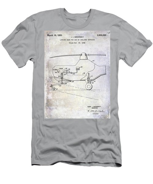 1953 Helicopter Patent Men's T-Shirt (Slim Fit)