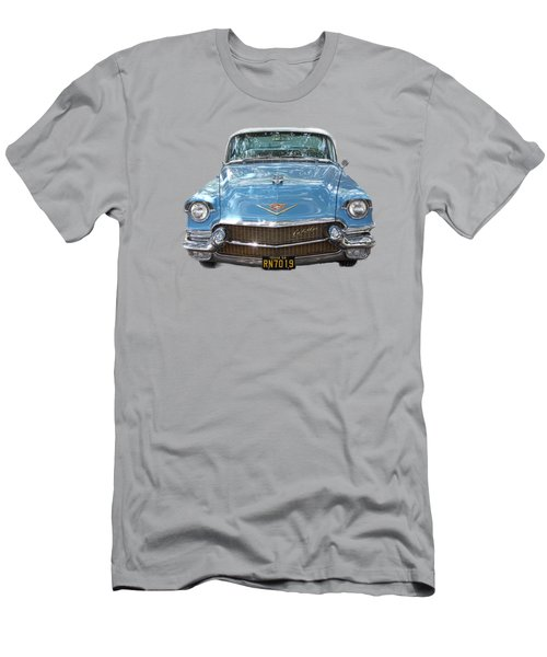Men's T-Shirt (Slim Fit) featuring the photograph 1956 Cadillac Cutout by Linda Phelps