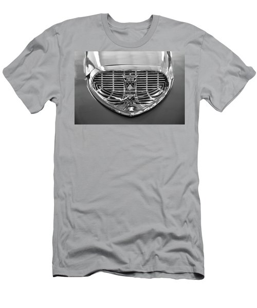 Men's T-Shirt (Slim Fit) featuring the digital art 1958 Ford Fairlane Sunliner Intake Bw by Chris Flees