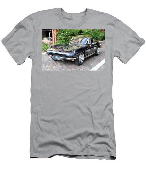 Men's T-Shirt (Slim Fit) featuring the photograph 1963 Corvette Split Window Coupe by John Black