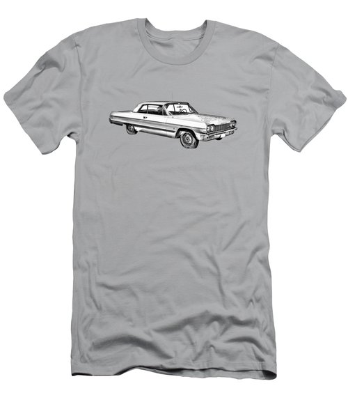1964 Chevrolet Impala Car Illustration Men's T-Shirt (Athletic Fit)