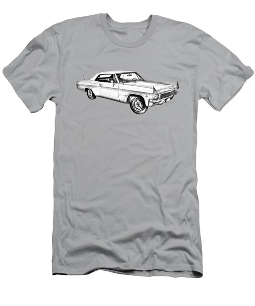 1965 Chevy Impala 327 Convertible Illuistration Men's T-Shirt (Slim Fit) by Keith Webber Jr