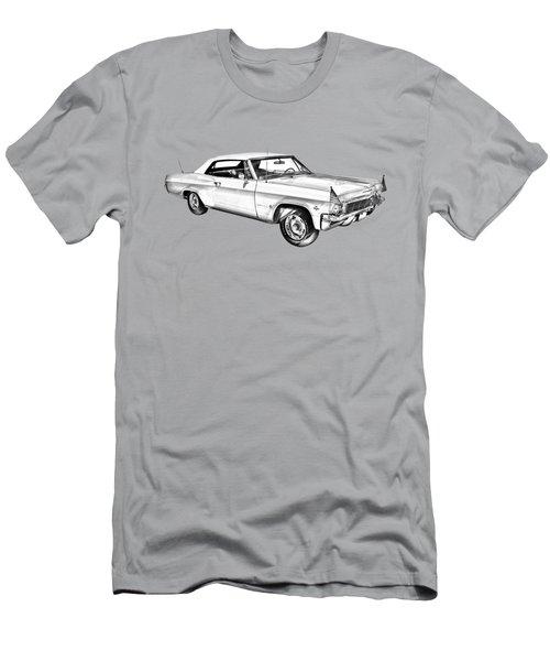 1965 Chevy Impala 327 Convertible Illuistration Men's T-Shirt (Athletic Fit)