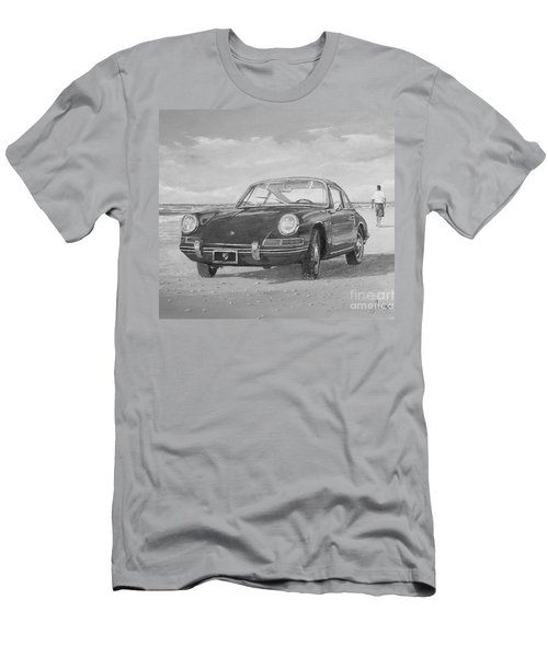 1967 Porsche 912 In Black And White Men's T-Shirt (Athletic Fit)