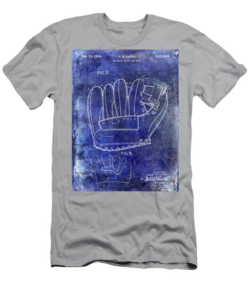 1943 Baseball Glove Patent Men's T-Shirt (Slim Fit) by Jon Neidert