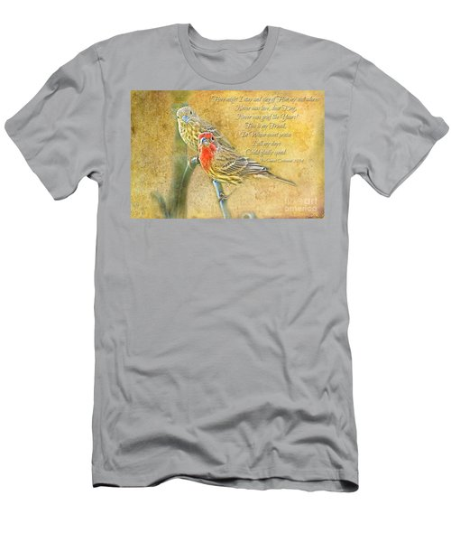 A Pair Of Housefinches With Verse Part 2 - Digital Paint Men's T-Shirt (Athletic Fit)