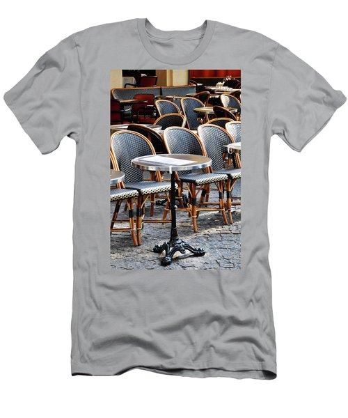 Cafe Terrace In Paris Men's T-Shirt (Athletic Fit)