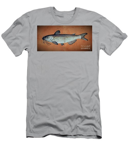 Men's T-Shirt (Slim Fit) featuring the drawing Catfish by Andrew Drozdowicz