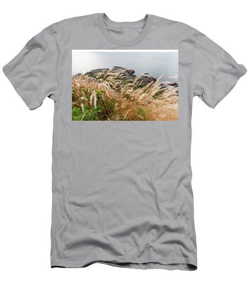 Cliffs At Kullaberg Men's T-Shirt (Athletic Fit)