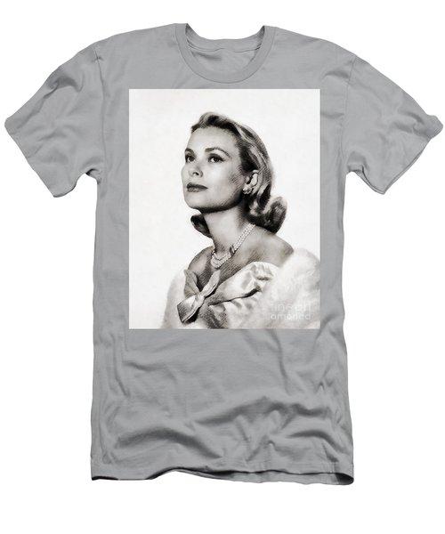 Grace Kelly, Vintage Hollywood Actress Men's T-Shirt (Slim Fit) by John Springfield