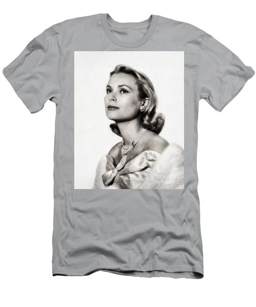 Grace Kelly, Vintage Hollywood Actress Men's T-Shirt (Athletic Fit)