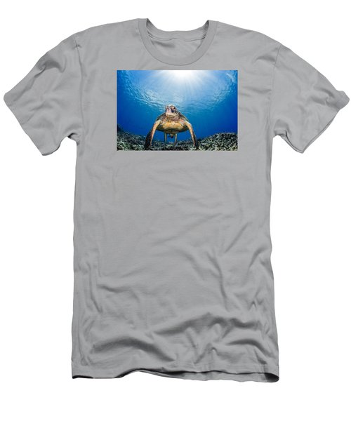 Hawaiian Turtle Men's T-Shirt (Athletic Fit)