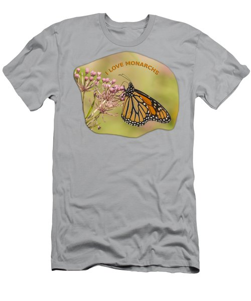 I Love Monarchs Men's T-Shirt (Athletic Fit)