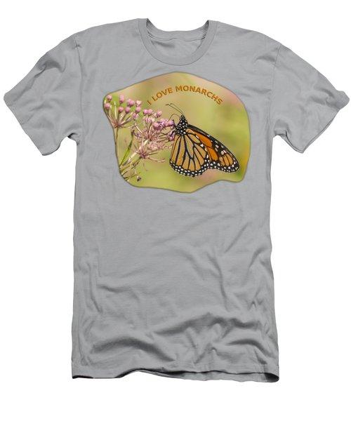 I Love Monarchs Men's T-Shirt (Athletic Fit)