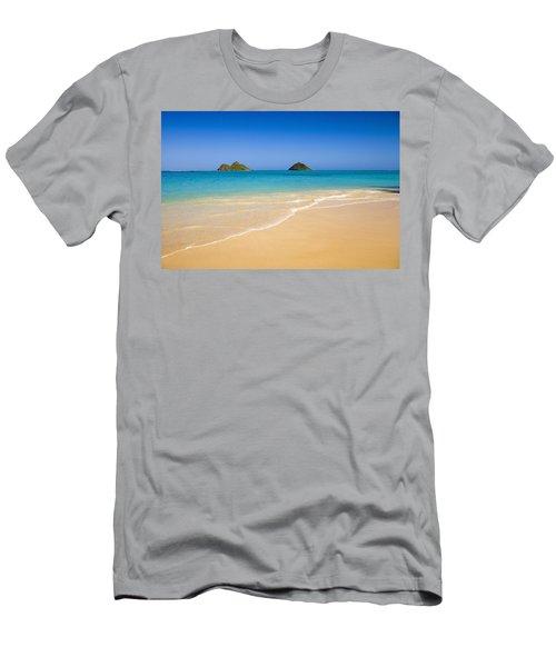 Lanikai, Mokulua Islands Men's T-Shirt (Athletic Fit)