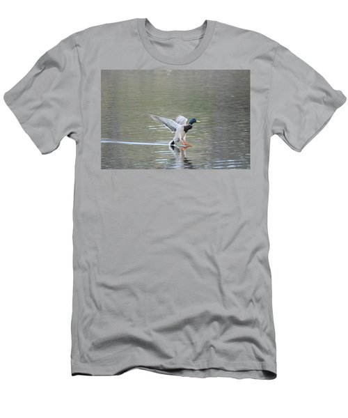 Men's T-Shirt (Athletic Fit) featuring the photograph Mallard Duck Male by Margarethe Binkley