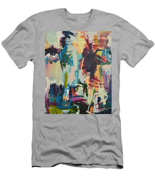 Modern Abstract Cow Painting Men's T-Shirt (Athletic Fit)