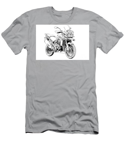 Original Motorcycle Portrait, Gift For Biker, Black And White Art Men's T-Shirt (Athletic Fit)