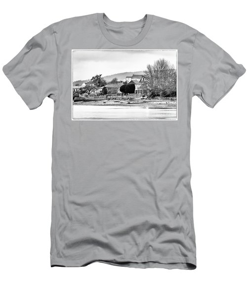 Men's T-Shirt (Athletic Fit) featuring the photograph Ribera Maninos Fene Galicia Spain by Pablo Avanzini