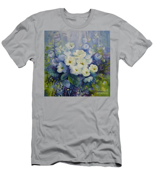 Men's T-Shirt (Slim Fit) featuring the painting Spring by Elena Oleniuc