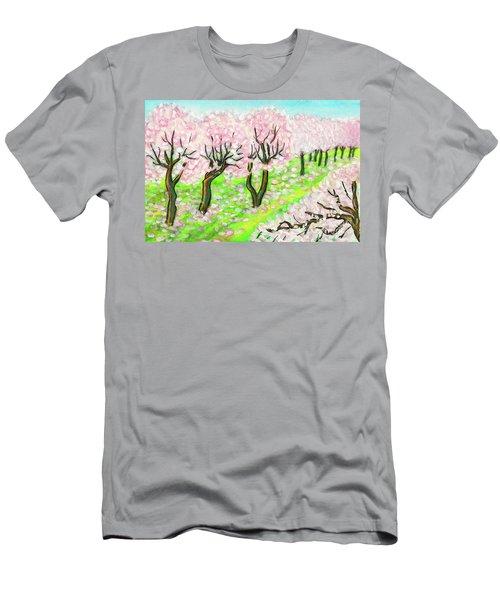 Spring Garden, Painting Men's T-Shirt (Slim Fit) by Irina Afonskaya