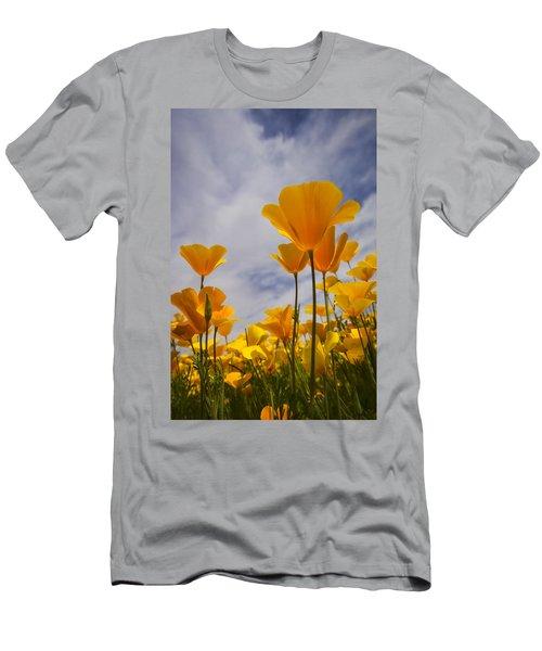 Springtime Poppies  Men's T-Shirt (Athletic Fit)