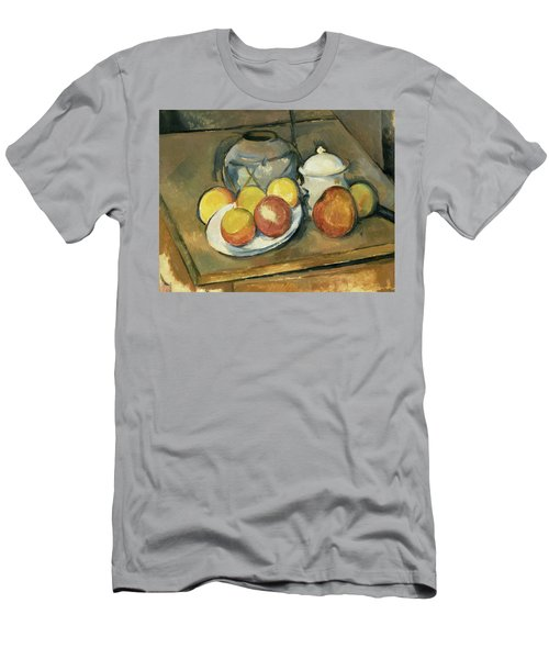 Straw-trimmed Vase, Sugar Bowl And Apples Men's T-Shirt (Athletic Fit)