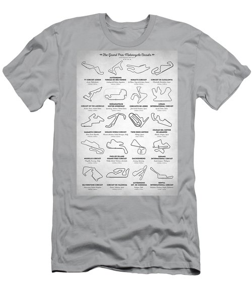 Men's T-Shirt (Athletic Fit) featuring the digital art The Motogp Circuits by Taylan Apukovska