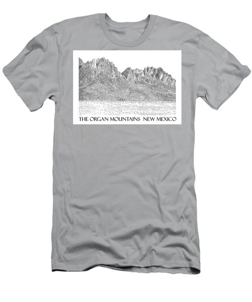 Men's T-Shirt (Slim Fit) featuring the painting The Organ Mountains by Jack Pumphrey