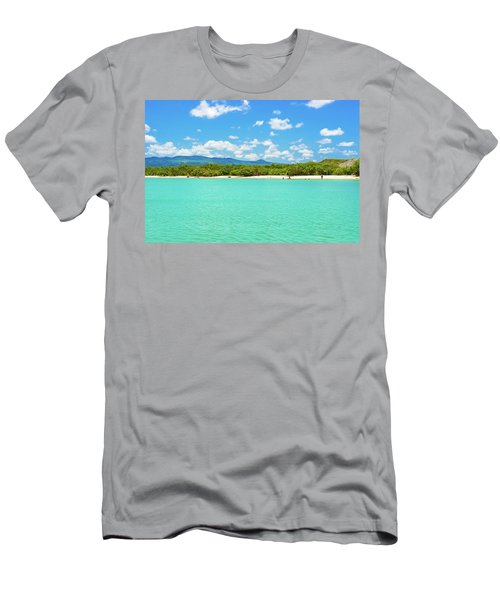 Tortuga Bay Beach At Santa Cruz Island In Galapagos  Men's T-Shirt (Slim Fit) by Marek Poplawski