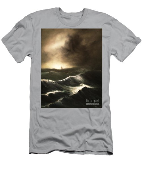 Men's T-Shirt (Slim Fit) featuring the painting Untitled by Stephen Roberson