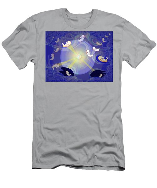 Men's T-Shirt (Slim Fit) featuring the digital art 2041 - The Beginning 2017 by Irmgard Schoendorf Welch