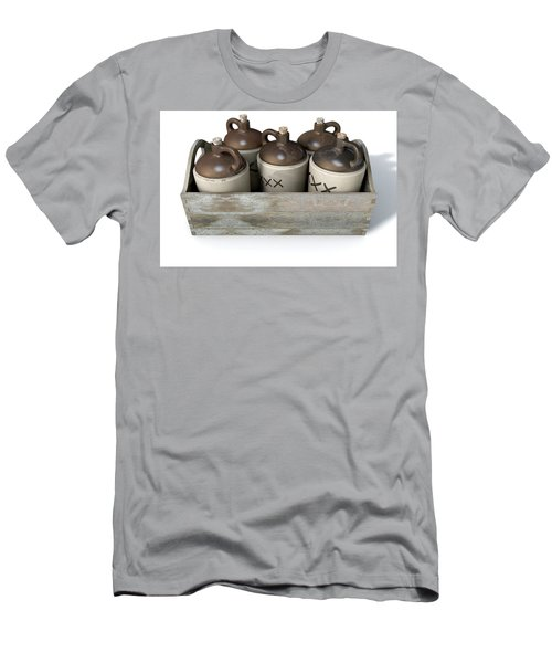 Moonshine In Wooden Crate Men's T-Shirt (Athletic Fit)