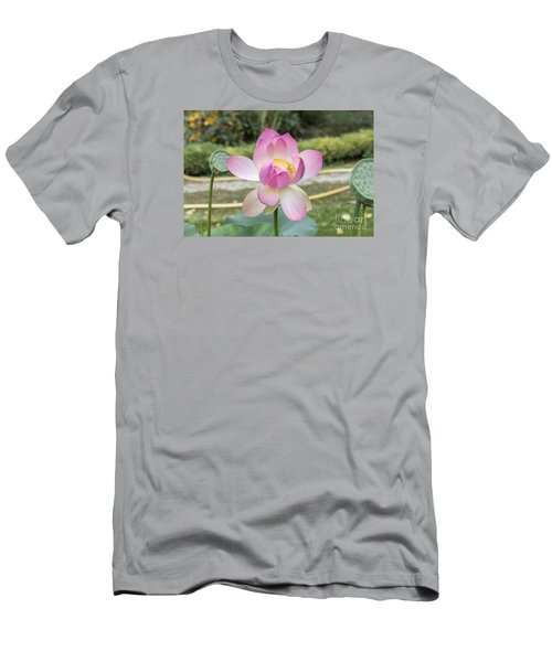 Men's T-Shirt (Slim Fit) featuring the photograph Beautiful Indian Lotus by Odon Czintos