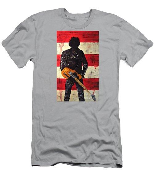 Bruce Springsteen Men's T-Shirt (Slim Fit) by Francesca Agostini