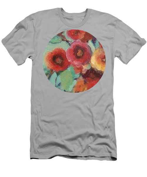 Floral Painting Men's T-Shirt (Athletic Fit)