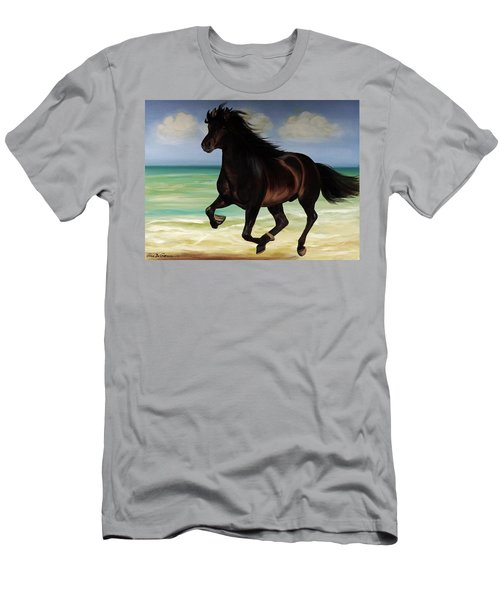 Horses In Paradise  Run Men's T-Shirt (Athletic Fit)