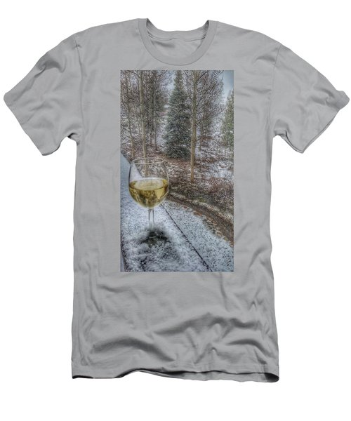 Mountain Living Men's T-Shirt (Slim Fit) by Fiona Kennard