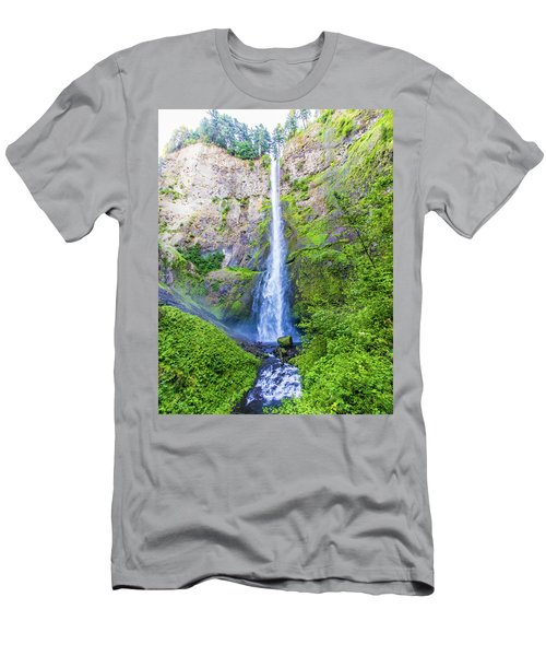 Men's T-Shirt (Athletic Fit) featuring the photograph Multnomah Falls by Jonny D