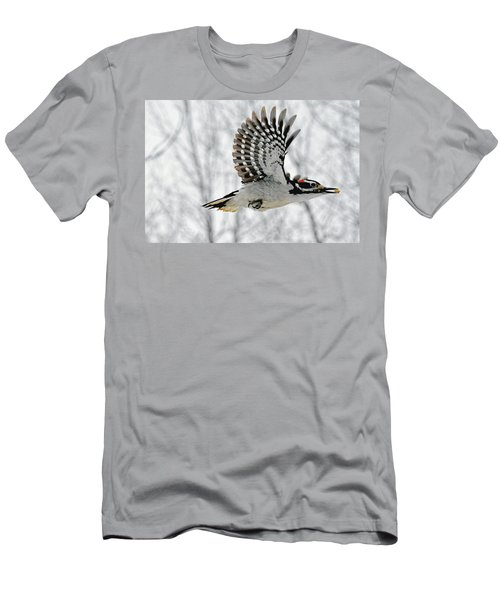 The Hairy Woodpecker In-flight Men's T-Shirt (Athletic Fit)
