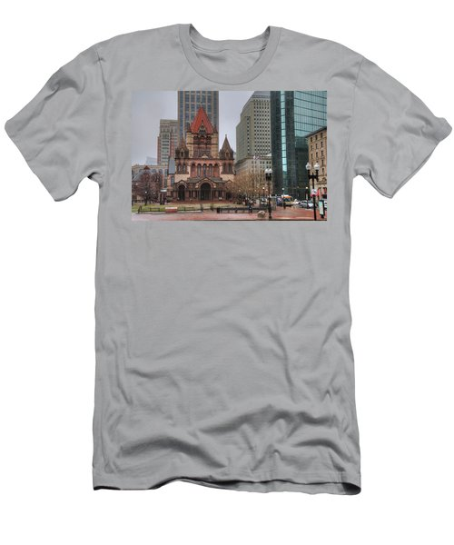 Men's T-Shirt (Slim Fit) featuring the photograph Trinity Church - Copley Square - Boston by Joann Vitali